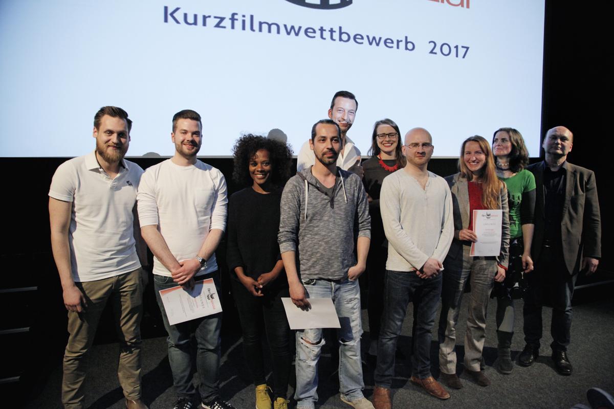 Gewinner des Kurzfilmwettbewerbs 2017 (Foto: Bernd Wolter)